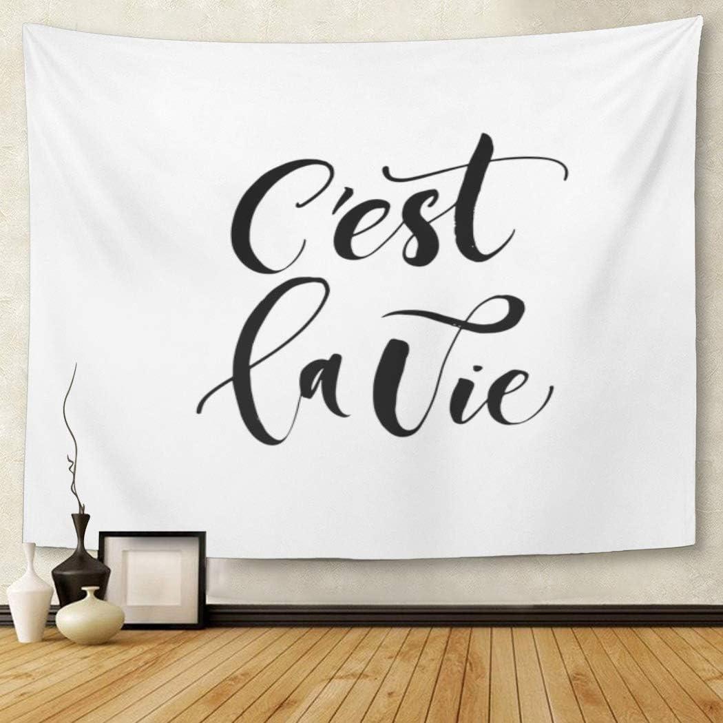 Amazon Com Tompop Tapestry C Est La Vie French It Life Home Decor