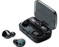 Fone de ouvido sem fio Bluetooth de toque na orelha Fones de ouvido estéreo esportivos Fones de ouvido com redução de ruído e