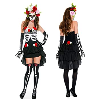 BERTHACC Disfraz De Halloween for Mujer Ropa Terrorista ...
