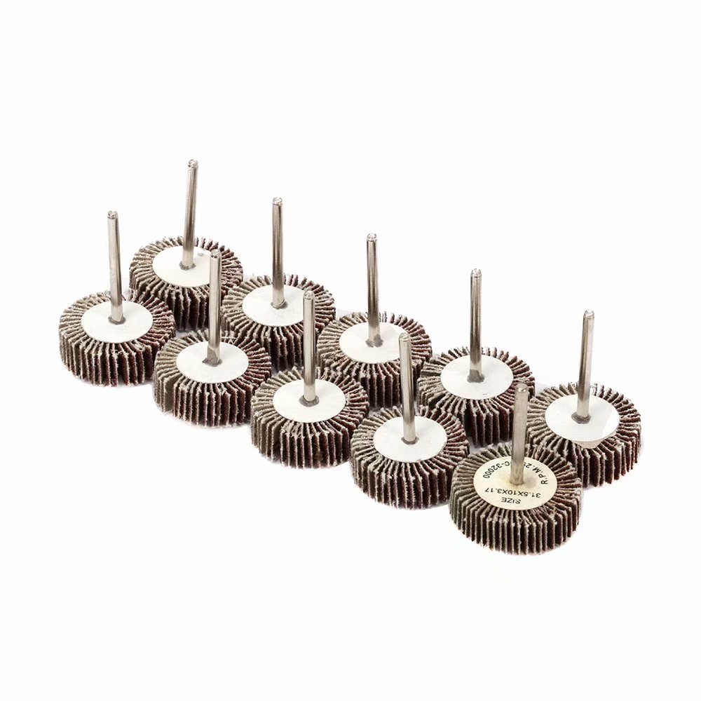 50Pcs 20x20x3mm Mounted Flap Sanding Wheel Grinding Disc 1//8 Shank Rotary Tools for Deburring and Polishing of Flat and Contoured Surfaces 80 Grit