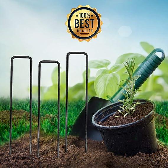 Grapas para jardinería - 100 estacas profesionales de 6 pulgadas ...