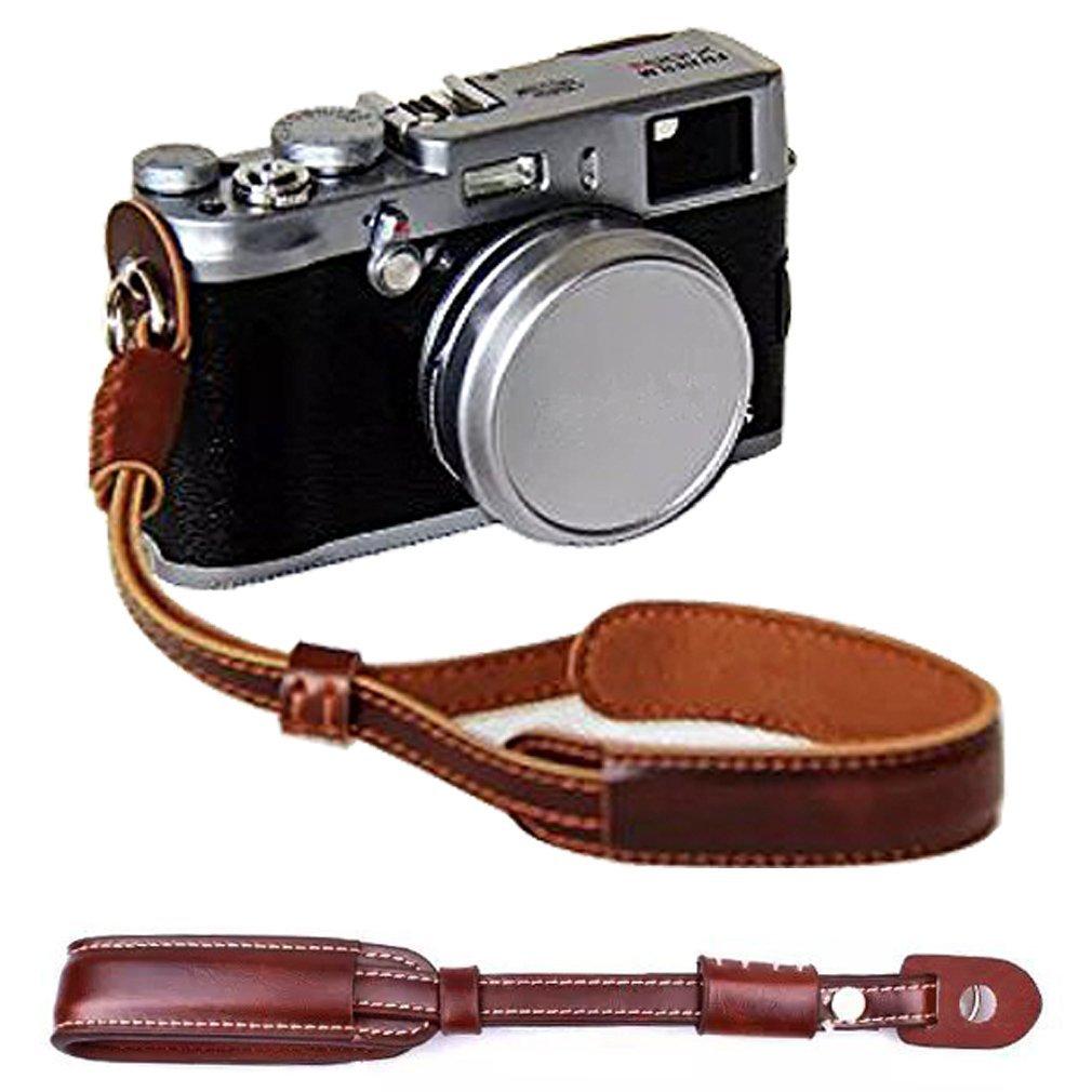 Niveau /à bulle First2savvv XJD-PEN-HH09 brun Qualit/é sup/érieure PU cuir /étui housse appareil photo num/érique pour Olympus PEN-F