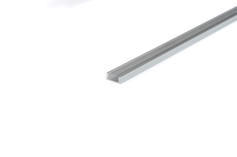 KingLed Capuchons et Clips de fixation Code 1232 10 Pack Profil/és Encastrables en Aluminium Anodis/é LED de 1M chacun; Mod/èle CC-32 pour Bandes /à LED avec Couverture Opaque en Plexiglas