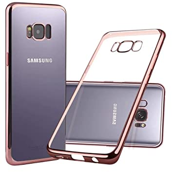 Funda Samsung Galaxy S8 Plus, Nakeey Carcasa Galaxy S8 Plus Trasero Caso TPU Suave Transparente Cáscara Back Case Cover Anti-arañazo Móvil Celular ...