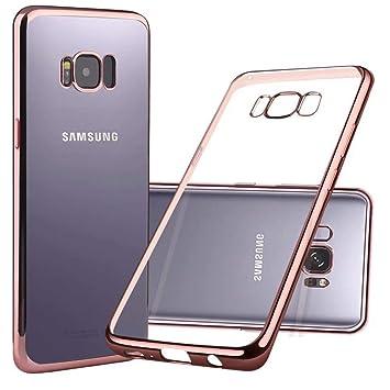 Funda Samsung Galaxy S8 Plus, Nakeey Carcasa Galaxy S8 Plus Trasero Caso TPU Suave Transparente Cáscara Back Case Cover Anti-arañazo Móvil Celular ...