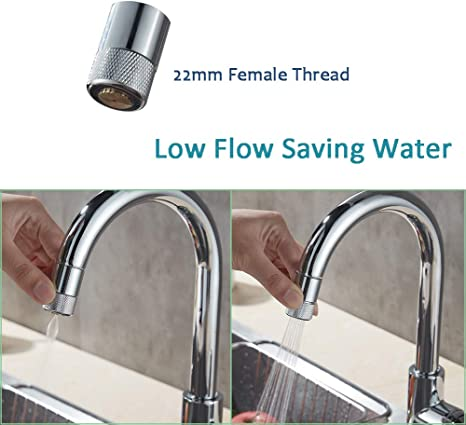 Amazon Com Low Flow Faucet Nozzle Aerator Kitchen Sink Rotating Faucet Spray Aerator Water Saving Two Sprayer Adjustable Mode 22mm Female Thread Aerator Spray For Sink Tap Head Kitchen Dining