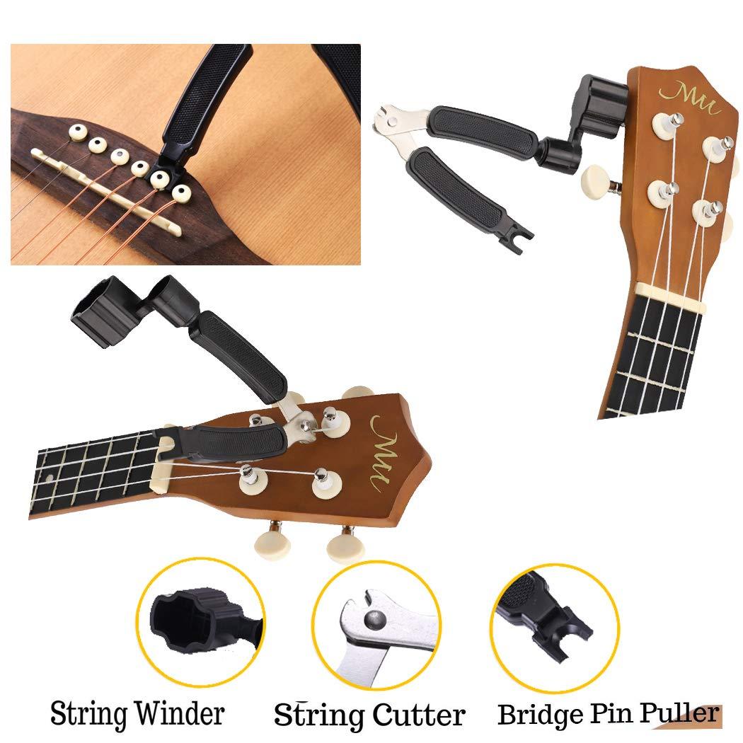 Kit de herramientas de reparación de guitarra, incluye organizador de cuerdas y regla, herramienta de medición, juego de llaves hexagonales para guitarra, ...