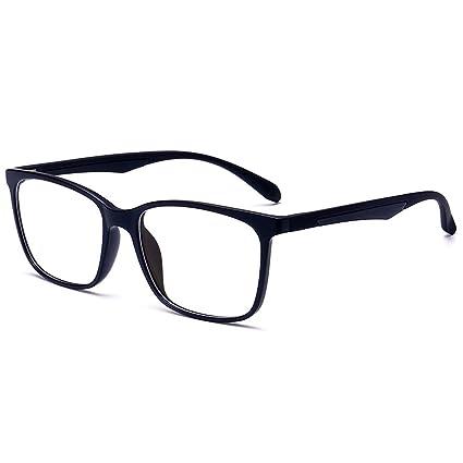 179a7c2372ed Amazon.com: ANRRI Blue Light Blocking Glasses for Computer Use, Anti  Eyestrain UV Filter Lens Lightweight Frame Eyeglasses, Black, Men/Women:  Electronics