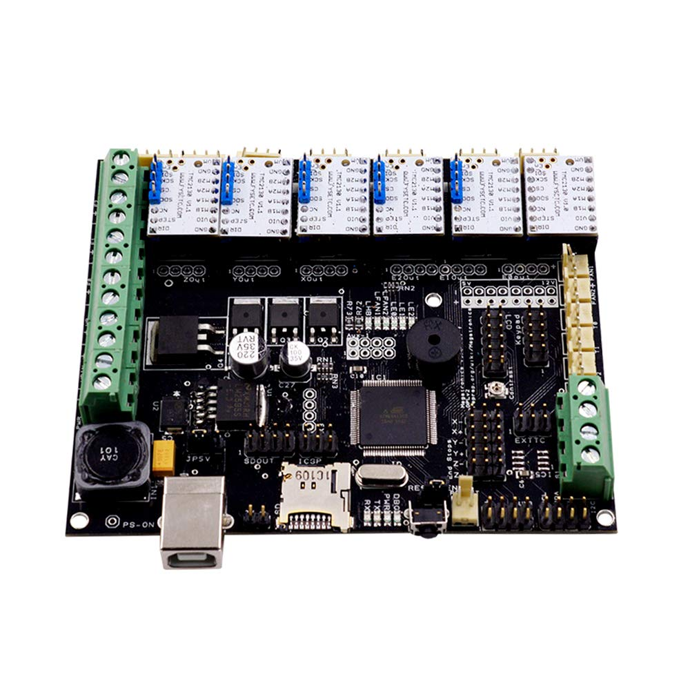 3D Printer Motherboard Parts BCZAMD TMC2130 V1.1 SPI Stepper StepStick Motor Mute Driver with Heat Sink Ultra-Silent for 3D Printer Control Board