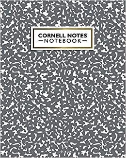 Amazon com: Cornell Notes Notebook: Cute Large Cornell Note