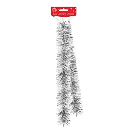 2m luxury thick tinsel christmas tree decoration silver