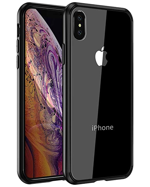 Mkeke Compatible With I Phone Xs Case,I Phone X Case,Clear Anti Scratch Shock Absorption Cover Case For I Phone Xs/X Black by Mkeke