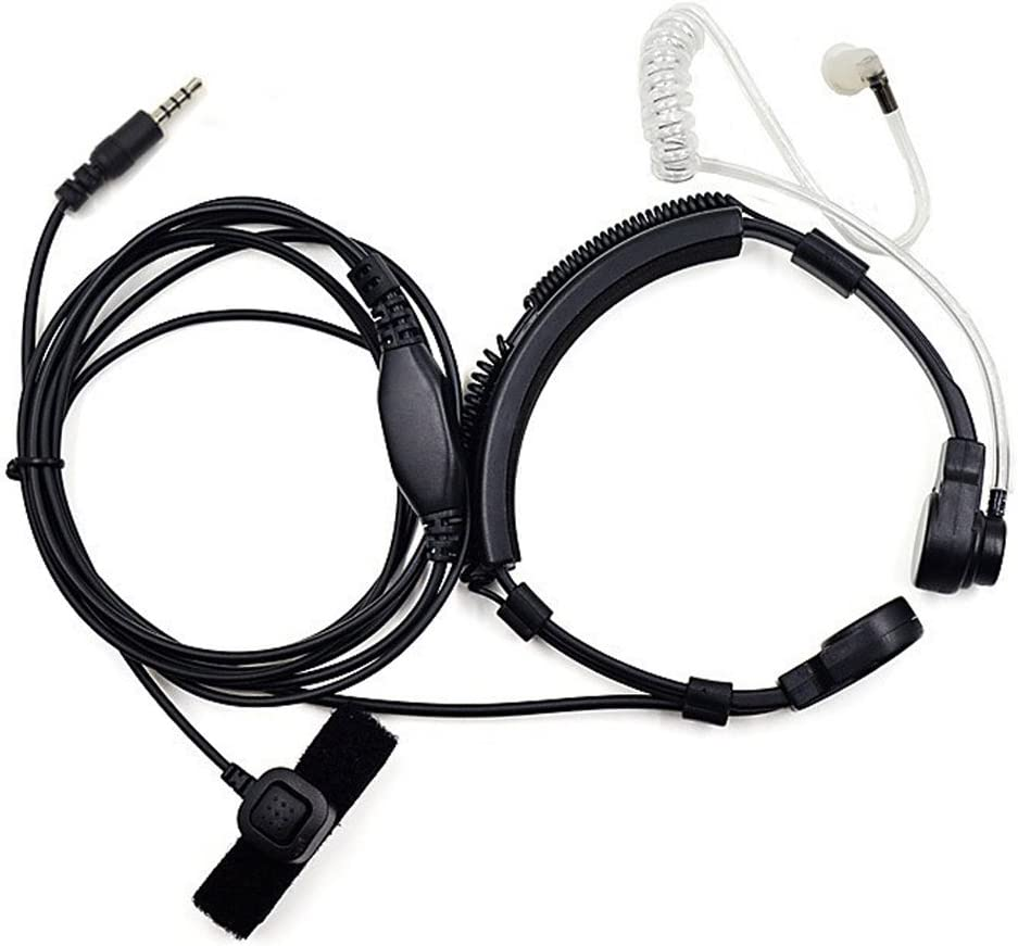 3.5mm Earpiece Headset Covert Acoustic Air Tube Connector for iPhone Samsung