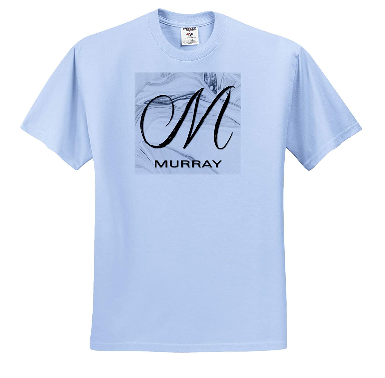 T-Shirts 3dRose BrooklynMeme Monograms White Marble Monogram M Murray