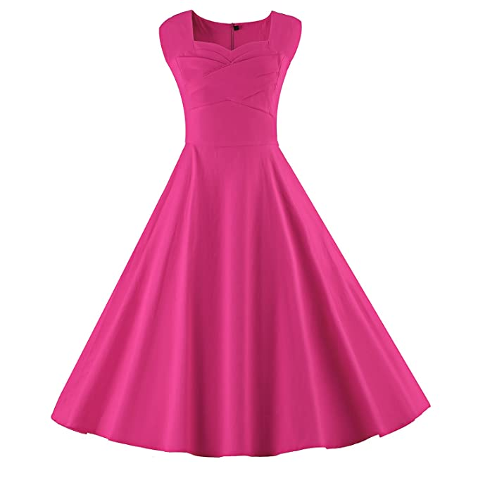 Luouse Audrey Hepburn Style Damen Vintage Rockabilly Swing Evening