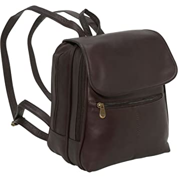 8ea0962446 Image Unavailable. Image not available for. Color  Le Donne Leather  Everything Women s Backpack Purse