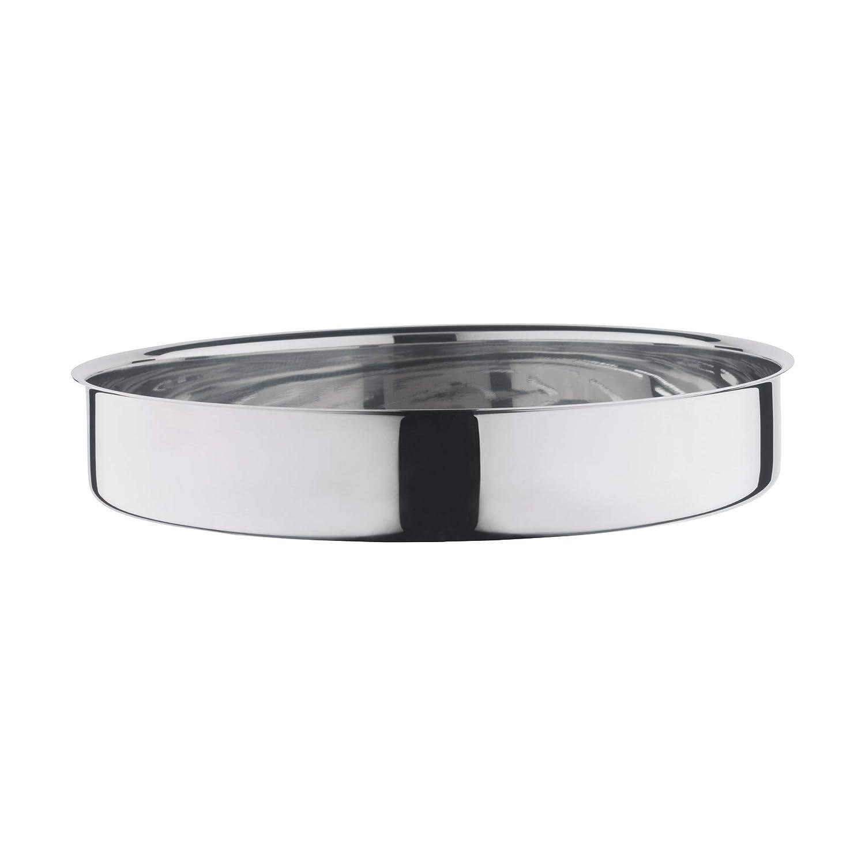 Garblech rund /Ø 28 cm mit Glasdeckel induktionsgeeignet Silit ecompact Dampfgarer//Br/äter rot Silargan Funktionskeramik 6,0 l Garthermometer