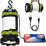Wsky LED Camping Lantern Rechargeable, T2000 High Lumen Light Flashlight, 6 Modes, High Capacity Power Bank - Best Lantern Fl