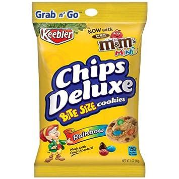 amazon com keebler bite size chips deluxe cookies rainbow 6 3oz bags
