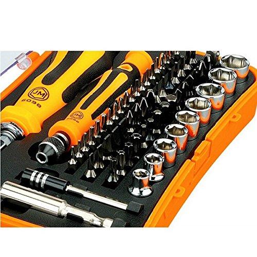 Dr Professional Reversible Ratchet (JM-6098 66 in 1 Handle Screwdriver Tools Screw Driver Socket Extension Bar Repair Tool)