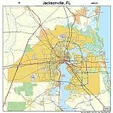 Amazon.com: Jacksonville FL Wall Map (9780762590766): Kappa Map ...