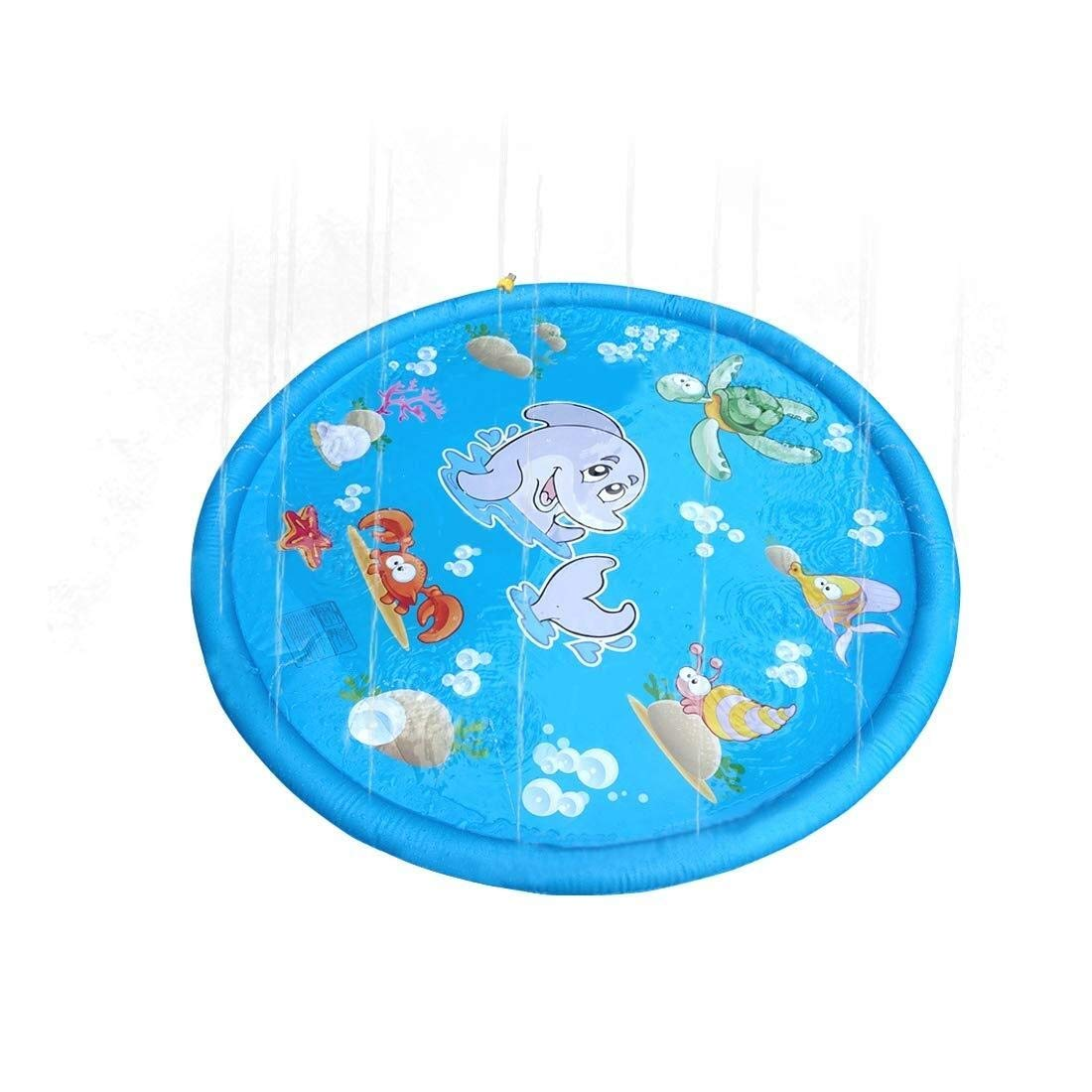 LUCY STORE Beach Swimming Pool Inflatable, Children's Inflatable Water Spray pad, Outdoor Lawn Sprinkler pad Baby Toddler boy Girl Family