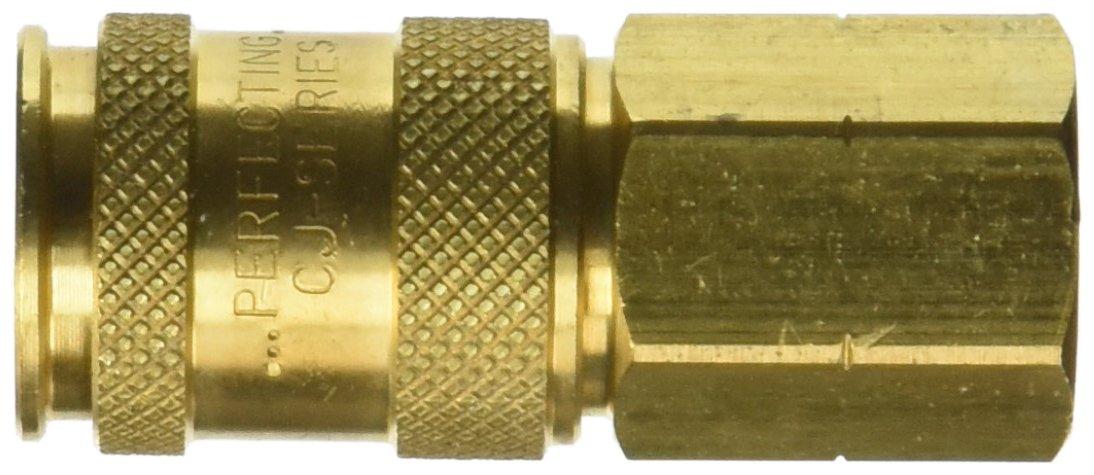 Socket Dixon Valve 2CJF3-B Brass European High-Flow Interchange Pneumatic Fitting 1//4 Coupler x 3//8-18 NPT Female Thread 1//4 Coupler x 3//8-18 NPT Female Thread Dixon Valve /& Coupling