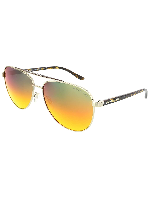 72660cbc53 Amazon.com  Michael Kors HVAR MK5007 Sunglasses 10432L-59 - Gold Wood  Frame
