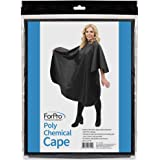"ForPro Poly Chemical Cape, Professional Hair Salon Styling Cape with Adjustable Snap Closure, 58"" L x 47"" W"