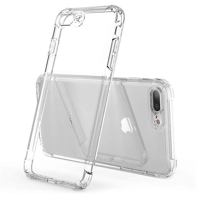 ANHONG iPhone 7 Plus/8 Plus funda transparente, [a prueba de ...