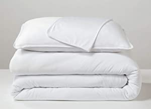SHEEX Performance Cooling Duvet Cover, Soft Breathable Fabric Releases Body Heat (Full/Queen, Bright White)