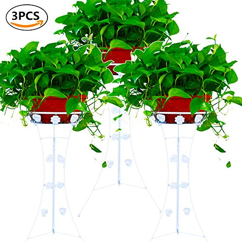 Cheap  UNHO 3PCS Classic Plant Stand Decorative Metal Garden Patio Standing Plant Flower..