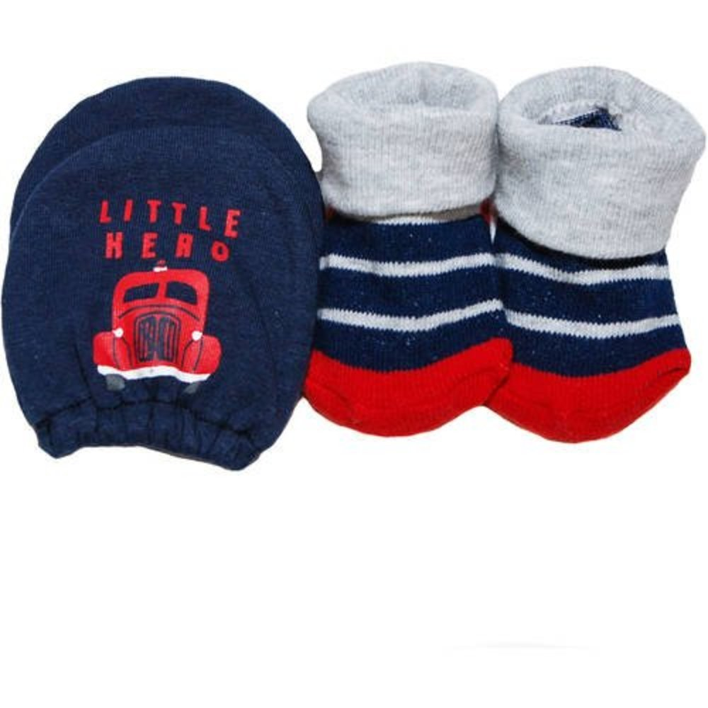 Carter's Child of Mine 'Little Hero' mitten & bootie set