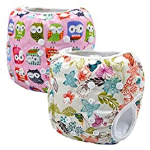 Storeofbaby 2pcs Baby Swim Diapers for Kids Pants Leakproof Reusable Adjustable 0-3 Years