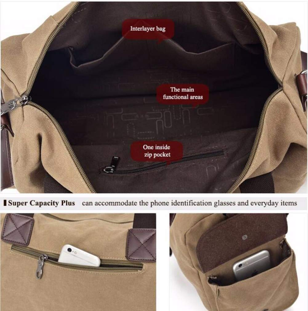 Handbag Travel Men Bag Duffel Bag Gym Bag Portable Leather Canvas