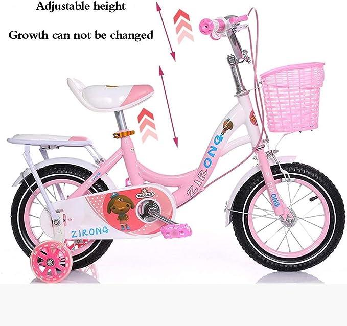 ZPDM Bicicletas para Niños Bicicletas De 12/14/16/18 Pulgadas Bicicletas para Niños Y Niñas Triciclos Salidas Al Aire Libre Bicicletas para Niños Vehículos para Niños De 2-3-6-8 Años, Rosa, 14 Pulga: Amazon.es: Hogar