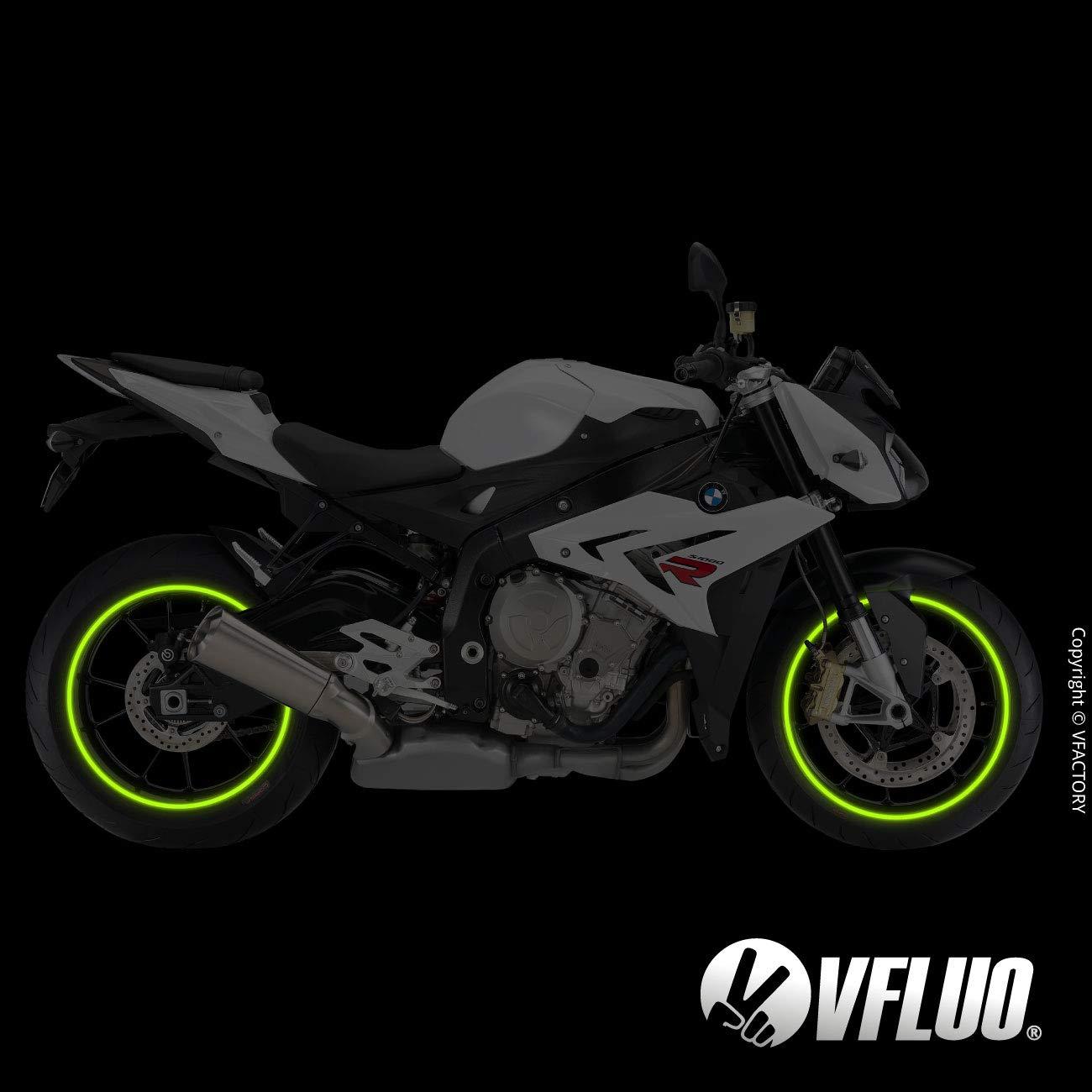 3M Technology/™ 7 mm width motorcycle retro reflective wheel stripes kit Dark blue 1 wheel VFLUO CIRCULAR/™
