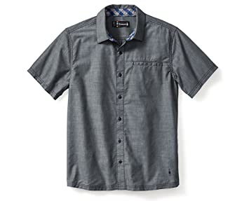 Smartwool Men's Summit County Chambray Short Sleeve (Dark Blue) Small