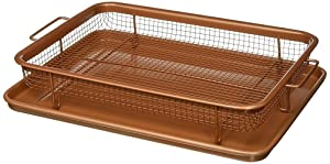 Gotham Steel Nonstick Copper Crisper Tray - AIR FRY IN YOUR OVEN -As Seen on TV by Daniel Green