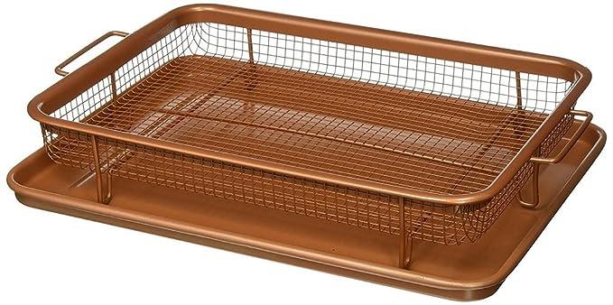 Gotham Steel 1683 Crisper tray XXL Brown Grill Pans Cookware