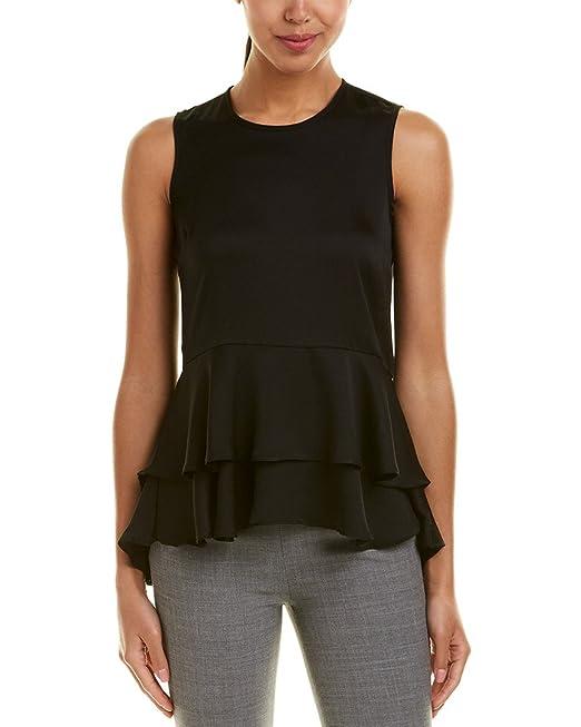 e3896f876a178f Vince Camuto Womens Ruffled Sleeveless Blouse: Amazon.ca: Clothing ...