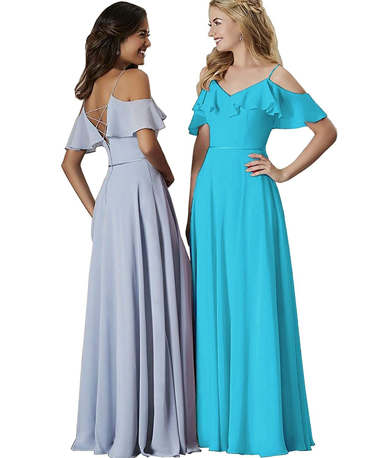 6052b4f8f1 Dusty Blue Bridesmaid Dresses With Sleeves - Gomes Weine AG