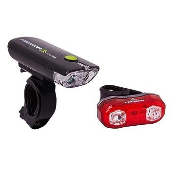 Merida Bicycle Light Set Front Light LED Rear Bicycle Light: Amazon