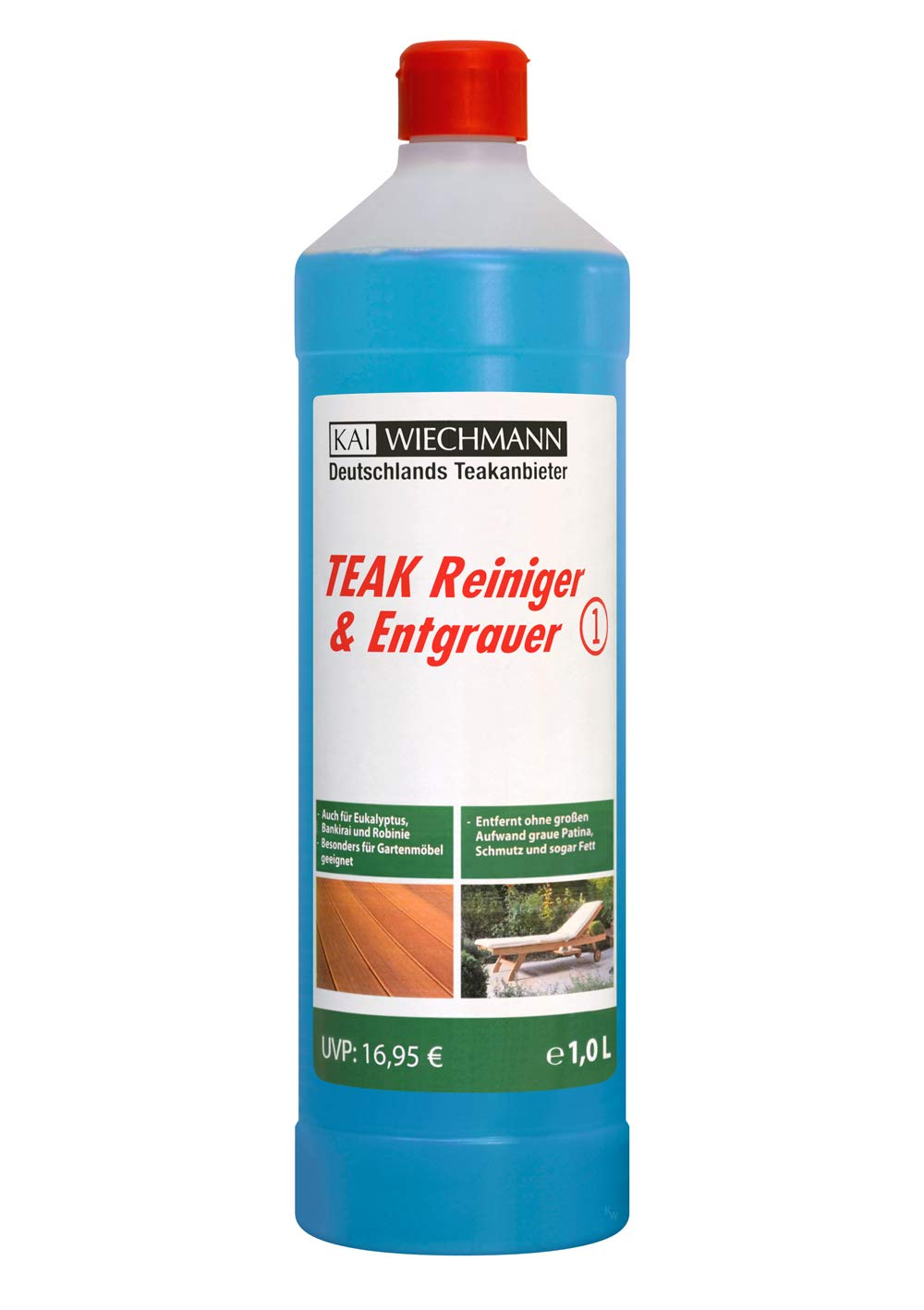 Berühmt Teak-Entgrauer & Reiniger Teakpflege 1 Liter entfernt graue Patina SU76