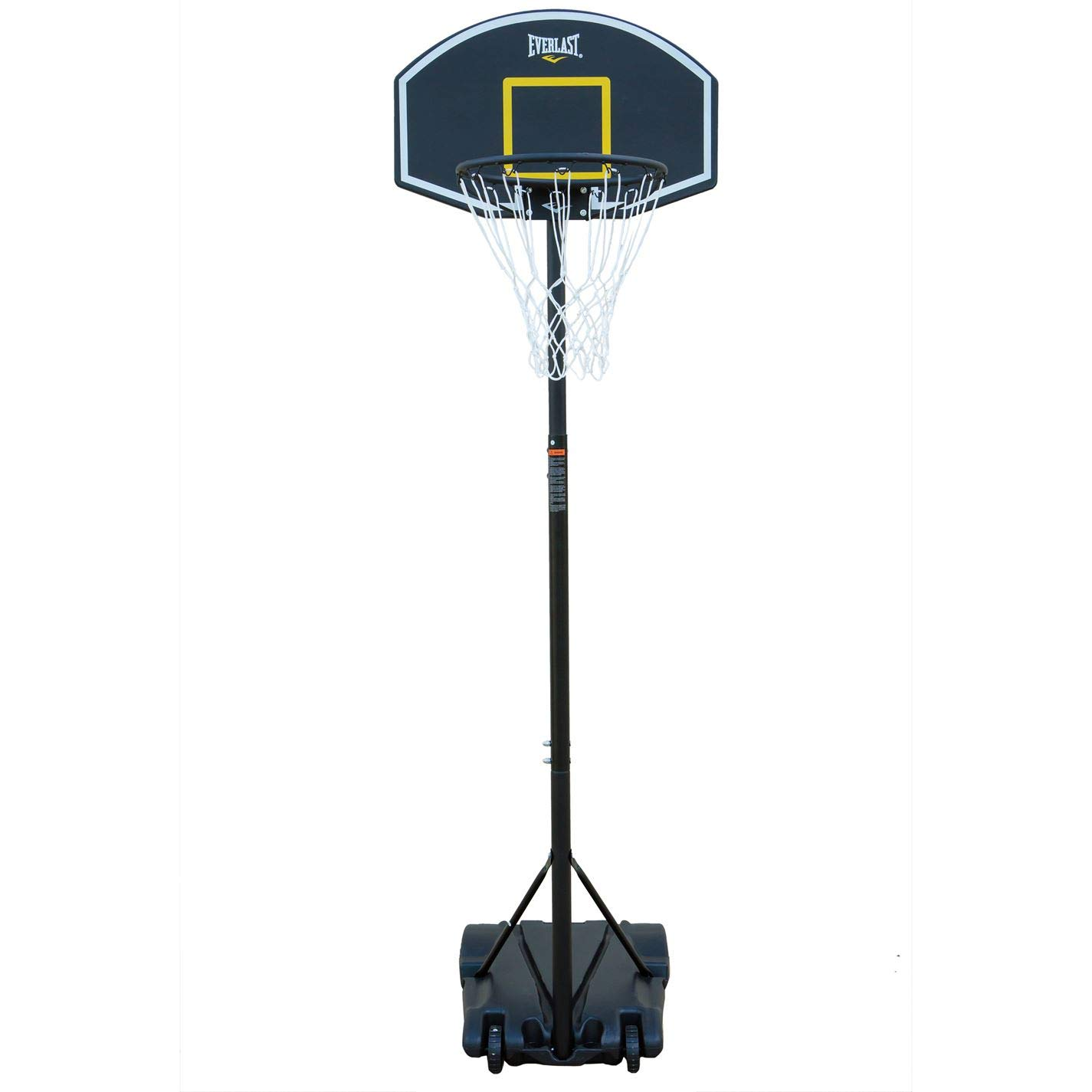 Everlast Unisex Basketballball Stand Basketball Boards Hoops Outdoor Black One Size