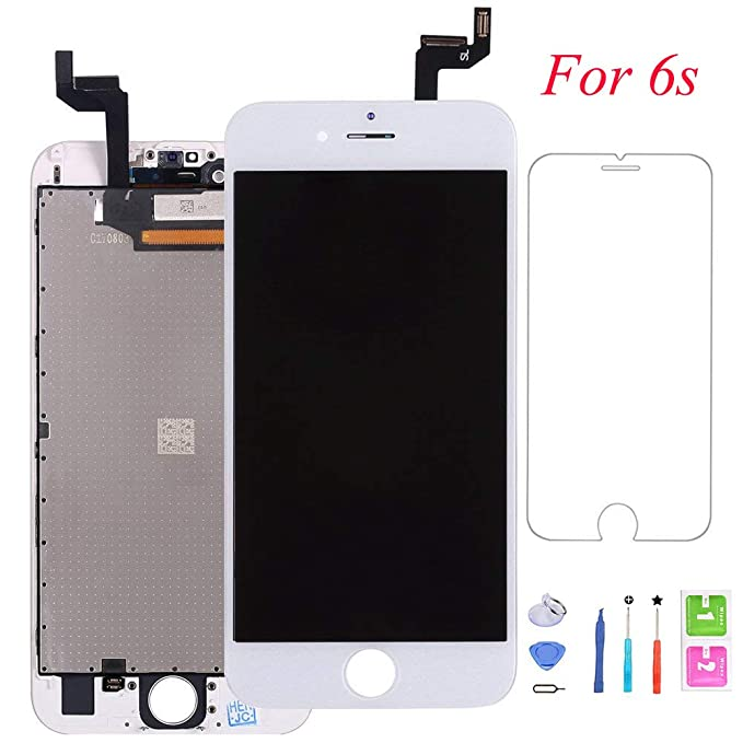 official photos 3bfad 6e51d QTlier Screen Replacement For iPhone 6s, Digitizer Display with LCD Touch  Screen Glass Frame Assembly with Screen Protector for iPhone 6s 4.7 inch-  ...