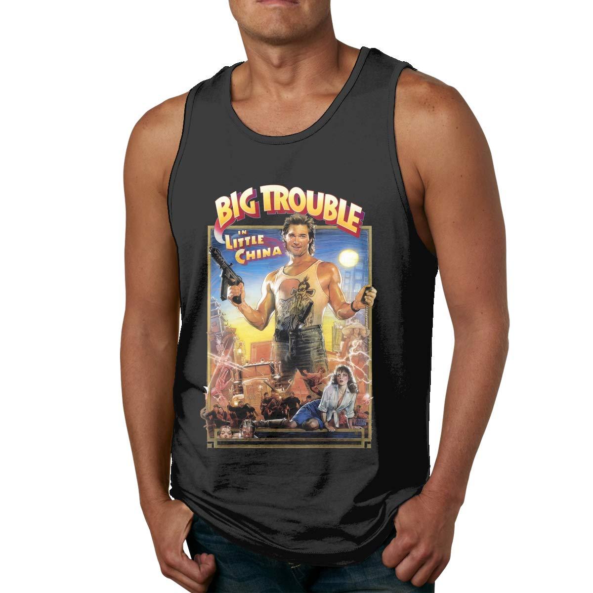 Zhejinij Big Trouble in Little China Mens Sleeveless Garment Tank Top Shirt Black