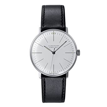 Junghans MAX Bill 027/3700.00 - Reloj de Caballero automático, Correa de Piel Color Negro: Max Bill: Amazon.es: Relojes