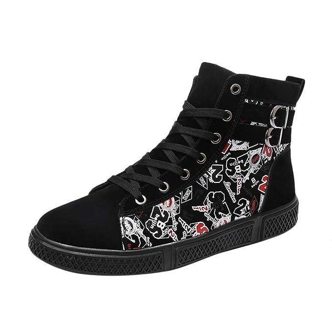 67cf5dd98278b DENER❤ Men High Top Sneakers, Hip Hop Digital Printed Waterproof ...