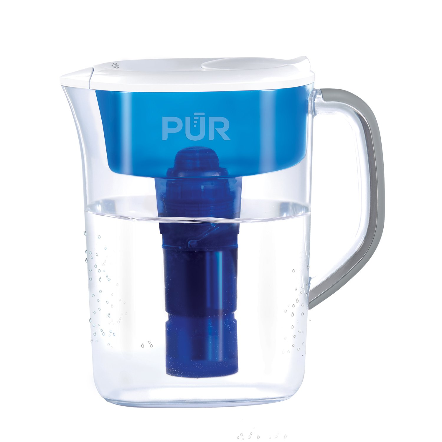 PUR 7 Cup Basic Water Filtration Pitcher, Filter Helps Reduce Chlorine Taste and Odor, Filter Provides Up To 40 Gallons or About 2 Months of Filtered Water